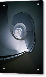 Acrylic Print featuring the photograph Modern Blue Spiral Staircase by Jaroslaw Blaminsky