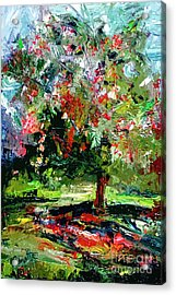 Modern Cherry Tree Contemporary Art  Acrylic Print