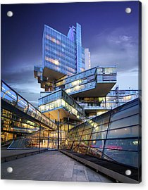 Modern City Lights Acrylic Print by Marc Huebner