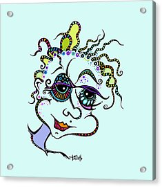 Modern Day Medusa Acrylic Print by Tanielle Childers