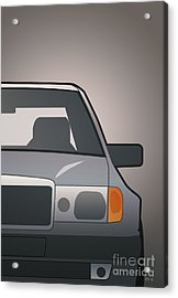 Modern Euro Icons Series Mercedes Benz W124 500e Split  Acrylic Print by Monkey Crisis On Mars