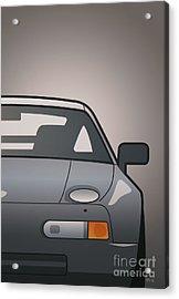 Modern Euro Icons Series Porsche 928 Gts Split Acrylic Print by Monkey Crisis On Mars