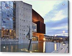 Modern Euskalduna Center Bilbao Acrylic Print by Marek Stepan