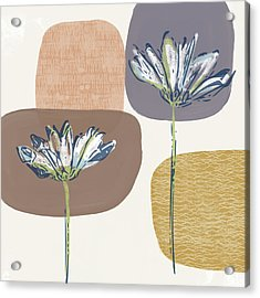 Modern Fall Floral 1- Art By Linda Woods Acrylic Print