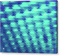 Modern Fashion Abstract Color Pattern In Blue   Green Acrylic Print