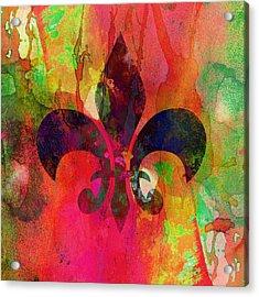 Modern Fleur De Lys Acrylic Print