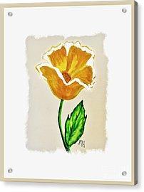 Modern Gold Flower Acrylic Print by Marsha Heiken