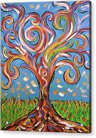 Modern Impasto Expressionist Painting  Acrylic Print