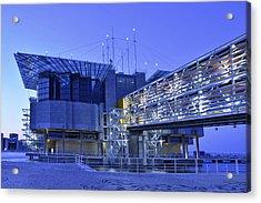 Acrylic Print featuring the photograph Modern Lisbon Aquarium by Marek Stepan