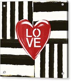 Modern Love- Art By Linda Woods Acrylic Print by Linda Woods