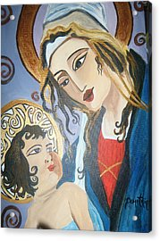 Modern Mother And Child Acrylic Print by Demetria Kelley