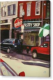 Modern Pastry Shop Boston Acrylic Print by Walt Maes