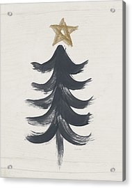 Modern Primitive Black And Gold Tree 1- Art By Linda Woods Acrylic Print by Linda Woods