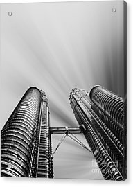 Modern Skyscraper Black And White  Acrylic Print