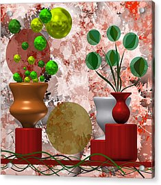 Modern Still Life With Abstract Flowers Acrylic Print