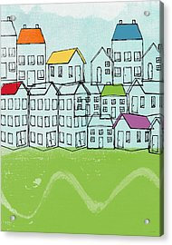 Modern Village Acrylic Print by Linda Woods