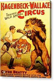 Modern Vintage Circus Poster Acrylic Print