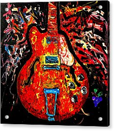 Modern Vintage Guitar Acrylic Print
