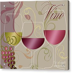 Modern Wine I Acrylic Print by Mindy Sommers