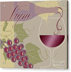 Modern Wine II Acrylic Print by Mindy Sommers