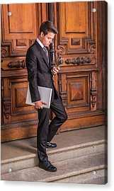 Acrylic Print featuring the photograph Modern Young School Boy 1504257 by Alexander Image