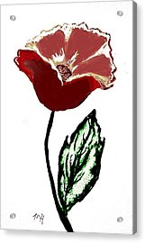 Acrylic Print featuring the drawing Modernized Flower by Marsha Heiken