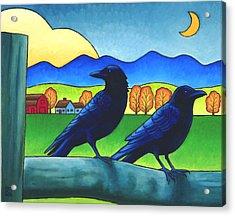 Moe And Joe Crow Acrylic Print
