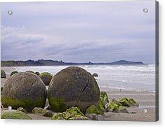 Moeraki Boulders Acrylic Print by Andrea Cadwallader