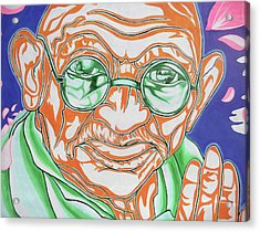 Acrylic Print featuring the photograph Mohandas Karamchand Gandhi  by Juergen Weiss