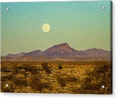 Mohave Desert Moon Acrylic Print