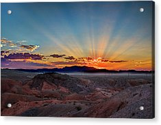 Mohave Sunrise Acrylic Print