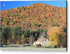 Mohawk Trail Fall Foliage And Farm Acrylic Print