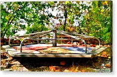 Acrylic Print featuring the painting Mohegan Lake Merry-go-round by Derek Gedney