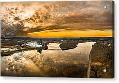 Mohegan Sun Sunset Acrylic Print by Petr Hejl