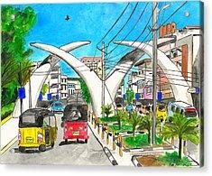 Moi Ave, Mombasa Tusks  Acrylic Print