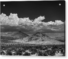 Acrylic Print featuring the photograph Mojave 020 Bw by Lance Vaughn