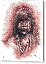 Mojave Girl Acrylic Print