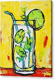 Mojito - Latin Tropical Drink Modern Art Acrylic Print