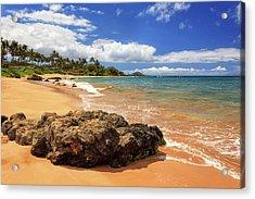 Mokapu Beach Maui Acrylic Print by James Eddy