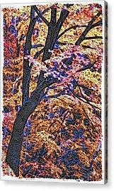 Moku Hanga Autumn Acrylic Print