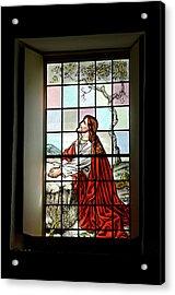 Mokuaikaua Church Stained Glass Window Acrylic Print