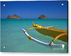 Mokulua Islands, Outrigger Acrylic Print by Dana Edmunds - Printscapes