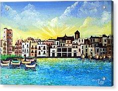 Mola Di Bari 1980 Acrylic Print