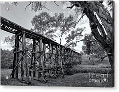 Acrylic Print featuring the photograph Mollisons Creek Trestle Bridge by Linda Lees