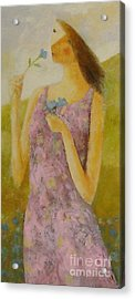 Acrylic Print featuring the painting Molly Bloom by Glenn Quist