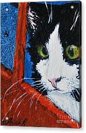 Acrylic Print featuring the painting Molly by Reina Resto