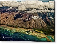Molokai From The Sky Acrylic Print by Joann Copeland-Paul