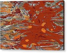Molten Earth Acrylic Print