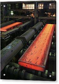 Molten Metal Bars Acrylic Print by Ria Novosti