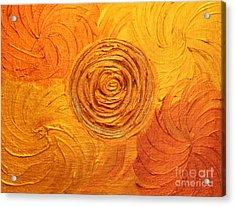 Molten Spiral Acrylic Print